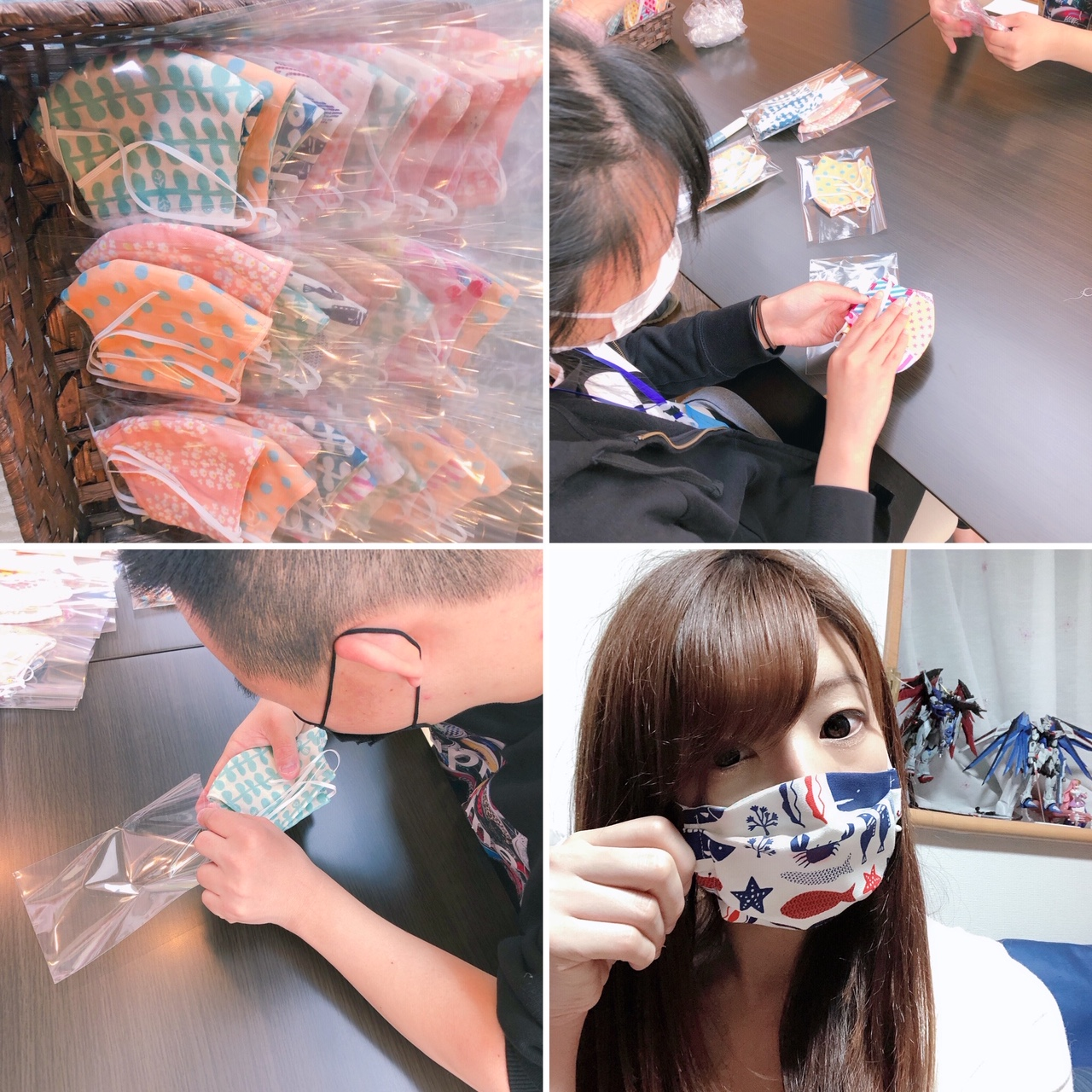 布マスク製作しています!!